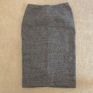 H&M Heather Gray Pencil Skirt Size Small